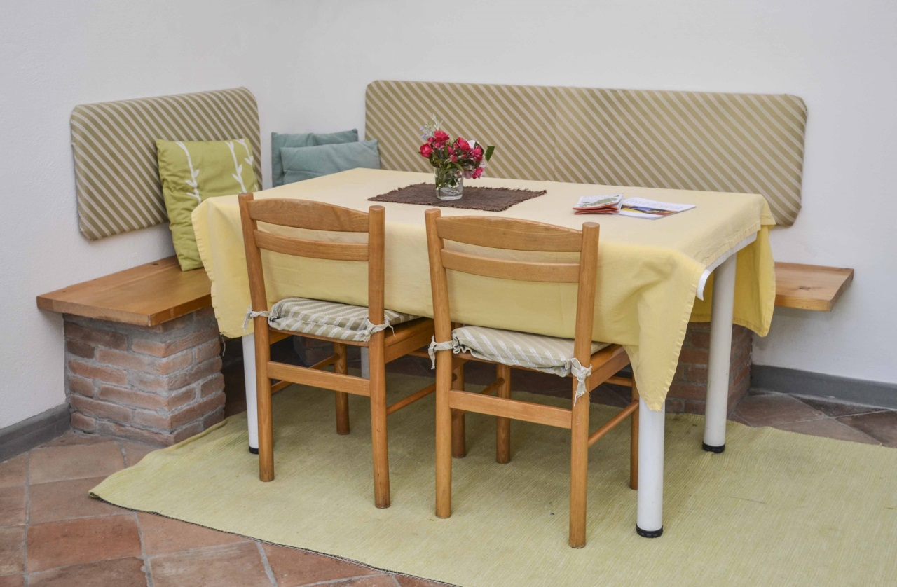 Table and Chairs in the Kitchen Cipresso Podere Consalvo